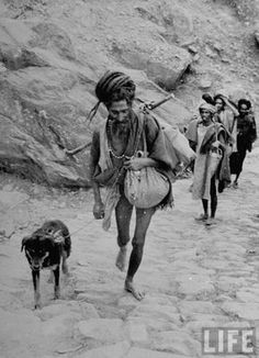 Sadhu with a Dog in the Himalayas in 1938!
