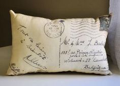 postcard pillows! <3