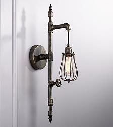 Galena Painted Bronze 30-Inch-H Pipe Wall Sconce