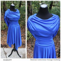 Vintage Blue Romantic Gown SCARLETT by MaterialCollections 1970s LONG BLUE GOWN • Preppy • High Fashion • Women's Vintage Fashion • bohemian • Retro • folk • romantic • hippy • hippie • goddess • mod • gypsy • pink • 70s • 1970s • woodstock • hipster • chic • prairie • edwardian • studio 54 • vintage dress • blue boho maxi • formal gown • bridal • drop waist • new years • formal • full skirt • disco • mod