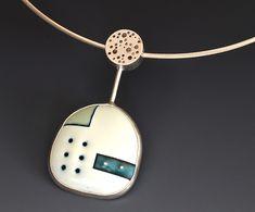 """Enamel Patchwork...""  Silver & Enamel Necklace  by Reiko Miyagi  $ 380"