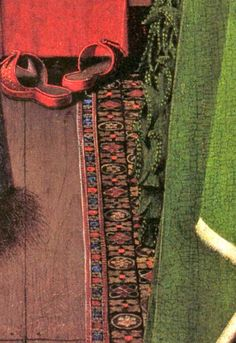 Portrait of G. Arnolfini and his wife (detail), 1434, by J. van Eyck