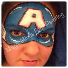 Captin America Superhero Face Painting