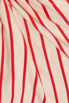 Rosie Assoulin - Top Knot Striped Linen And Cotton-blend Pants - Red - US10