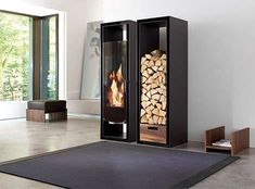 The Conmoto 'Gate' Fireplace is Perfect for Contemporary Homes #homedecor trendhunter.com