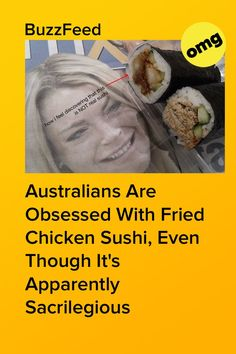 We know it's a crime against tradition, but we just can't get enough. Chicken Sushi, Fried Chicken, Aussie Food, How I Feel, Feelings, Crime, Crime Comics, Baked Fried Chicken, Fracture Mechanics