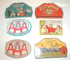 Six Old Graphic Needle Cases Patriotic AAA Sewing Susan (09/27/2009) $10.45