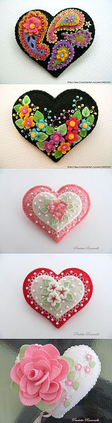 Идеи. Сердечки из фетра и ткани / Другие виды рукоделия / PassionForum - мастер-классы по рукоделию