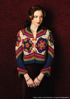 I really like this crochet sweater,Made with hexagons, really easy, has charts and diagrams
