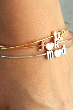 Wear your love with a personalized bracelet.