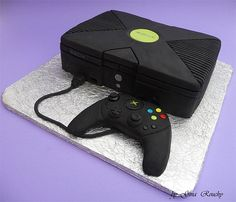 X box game console unusual cake design cool