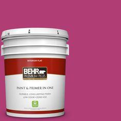 BEHR Premium Plus 5 gal. #P120-6 Diva Glam Zero VOC Flat Interior Paint