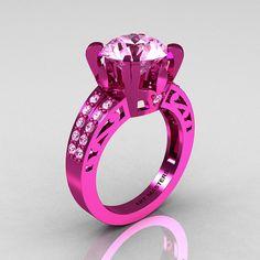Modern Vintage 14K Pink Gold 30 CT Light Pink by DesignMasters, $3199.00