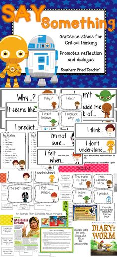 Benjamin bloom 1956 developed a classification of levels of say something sentence stems are the perfect way to get your students thinking critically and promote fandeluxe Image collections
