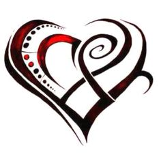 Tribal heart tattoo