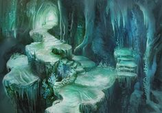 The Crystal Caves concept - fantasy ice caves