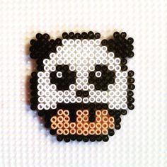 Panda mushroom hama beads by hadavedre