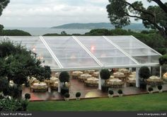 use clear roofs & walls to make the most of stunning locations & venues