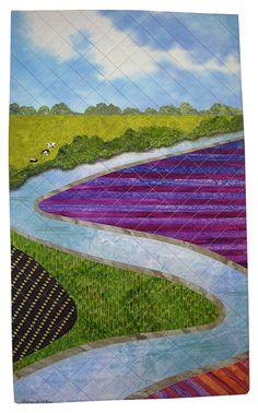 Water Wealth by Sue Siefkin | landscape, art quilt