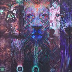 La lune Watcher Wolf tapisserie foncé par SolsticeSonDesign sur Etsy