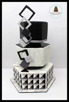 Optical Illusion- 50 cakes of gray Around the world in Sugar collaboration by Anshalica Miles -Destiny's Delights Custom Cakes