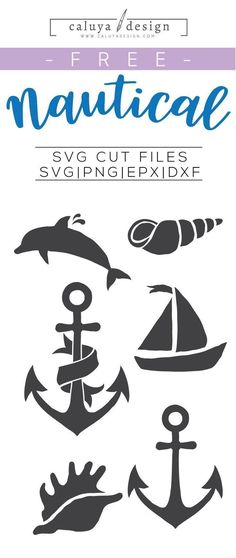Free Nautical SVG, PNG, EPS & DXF by Caluya Design. Compatible with Cameo Silhouette, Cricut and other major cutting machines!Perfect for your DIY projects, Giveaway and personalized gift. Plotter Silhouette Cameo, Silhouette Cameo Projects, Silhouette Design, Anchor Silhouette, Boat Silhouette, Silhouette Clip Art, Silhouette Images, Silhouette Files, Cricut Vinyl