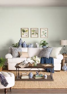 Best Farmhouse Living Room Furniture For Sale! Discover the best coffee tables, sofas, end tables, and more. Living Room Update, Living Room Decor, Americana Living Rooms, Farmhouse Living Room Furniture, Condo Decorating, Decorating Ideas, Living Room Designs, Interior Design, Interior Ideas