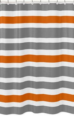 grey and orange shower curtains Google Search kids bathroom
