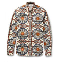 Alexander McQueen Slim-Fit Printed Cotton Shirt   $895  #Fashion #Style #Menswear