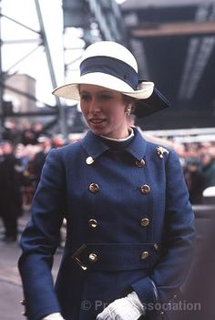 An 18-year-old Princess Anne (later The Princess Royal), at Wallsend-on-Tyne, Northumberland, in May 1969 when she launched her first ship, the tanker Esso Northumbria.  © Press Association
