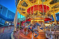 Carousel, Pier 39, San Francisco    Carousel, Pier 39, San Francisco, HDR, twilight, D3S