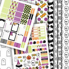 Halloween Kit Stickers Pattern Halloween by AlakazooDesigns