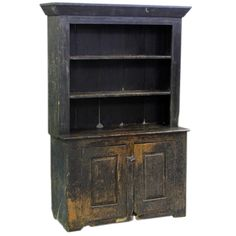 American Primitive Cabinet With Original Paint | From a unique collection of antique and modern bookcases at http://www.1stdibs.com/furniture/storage-case-pieces/bookcases/