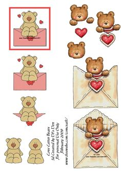 3d decoupage photo: Loveletterbears LoveLetterBears.jpg