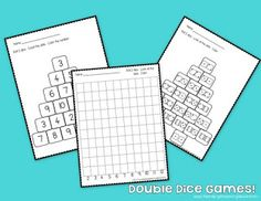 FREE!  Simple and easy dice games for your math tubs or math centers!
