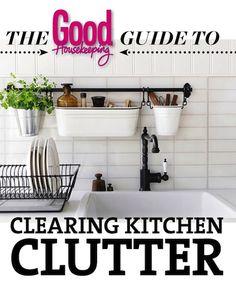 10 Ways to Clear the Kitchen Clutter 10 Ways to Clear the Kitchen Clutter Good Housekeeping, Home Hacks, Declutter, Good To Know, Kitchen Design, Layout, Organization, Storage, Organising