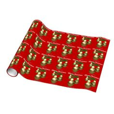 Gold Ornaments Christmas Gift Wrap at Agrainofmustardseed.com. Shop now 4 #JesusSeason add name or initials to any gift 4Free! #ChristmasWrappingPaper #Agrainofmustardseed #gifts #ChristmasGifts #Zazzle