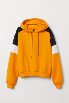 H&M Printed Hooded Sweatshirt - Yellow Teen Fashion Outfits, Edgy Outfits, Cute Casual Outfits, Outfits For Teens, Trendy Hoodies, Cool Hoodies, Sweat Cool, Yellow Clothes, Funny Shirts