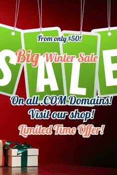 Big Winter Sale% On All Domains! Starts From Only $50! Limited Time Offer! Don't Miss This Opportunity, Get Top Level Domains For Nickel Of Their Real Price!  #domains #domainnames #domainforsale #domain #website #domainname #business #domainnamesforsale #domainsforsale #godaddy #webhosting #domainer #marketing #web #domainbroker Domain Name Ideas, Buy Domain, Winter Sale, Opportunity, Investing, Names, Marketing, Website, Big