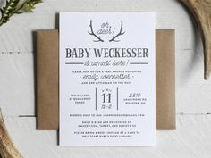 Printable Rustic Baby Boy Shower Invitation by TheOystersPearl