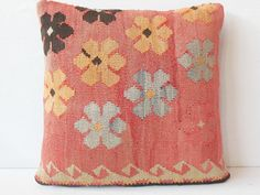 40 YOLD FAST DELIVERY Kilim Pillow Cover  Decorative by DECOLIC, $55.00