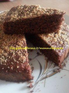 torta con briciole di biscotti