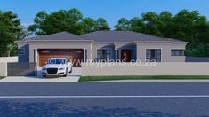 3 Bedroom House Plan – My Building Plans South Africa Round House Plans, My House Plans, Family House Plans, House Plans 3 Bedroom, Duplex House Plans, House Plans South Africa, African House, Village House Design, Architectural House Plans