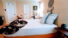 white mattress and black bedspread Bedroom Teen Bedroom, Bedroom Sets, Master Bedrooms, Black Bedspread, Buy Mattress Online, Traditional Bedroom, Bedroom Doors, Foam Mattress, Beautiful Bedrooms