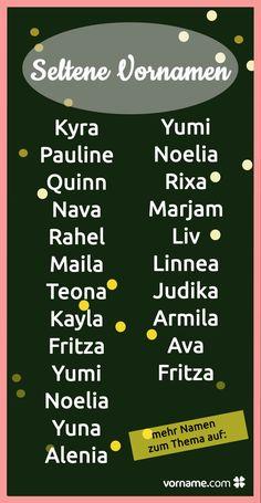 Für Deine Tochter wünscht Du Dir einen Vornamen, der nicht in jeder Schulklasse fünffach vertreten ist? Wir haben eine Liste schöner aber seltener Vornamen zusammengestellt, hier wirst Du sicher fündig!