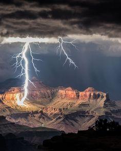 Lightning Storm at Grand Canyon in Arizona