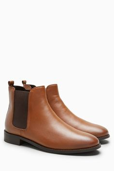 Buy Tan Leather Chelsea Boots from the Next UK online shop Brown Chelsea Boots Outfit, Black Leather Chelsea Boots, Tan Leather Boots, Brown Boots, Suede Leather, Clarks, Boating Outfit, Tans, Shoe Boots