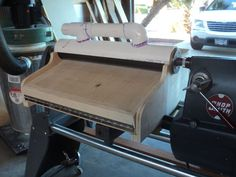 Quick, Cheap Thickness Sander for ShopSmith or Lathe #2: Structurally Complete - down to details - by shipwright @ LumberJocks.com ~ woodwor...