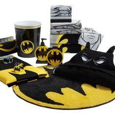 Batman Bathroom, Superhero Bathroom, Superhero Room, Cool Curtains, Fabric Shower Curtains, Set Up Gamer, Batman Room, Batman Bag, Batman Nursery