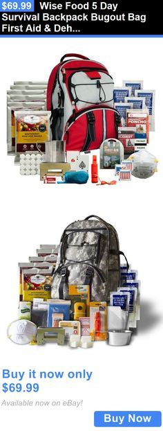 Food And Drink: Wise Food 5 Day Survival Backpack Bugout Bag First Aid And Dehydrated Meals BUY IT NOW ONLY: $69.99